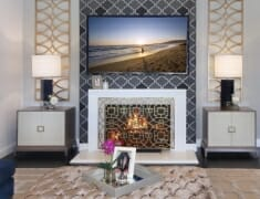 Altadena fireplace