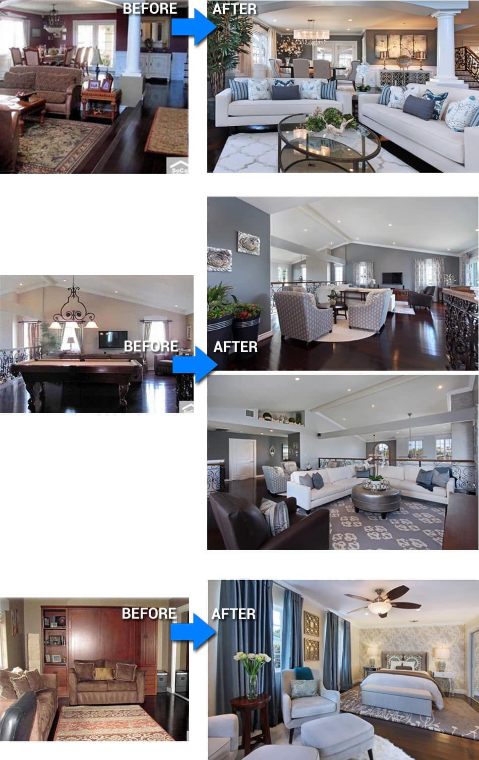 Seal Beach Interior Designers Before After Photos